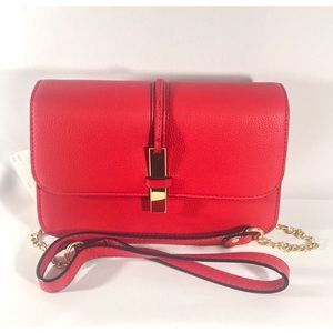 Neiman Marcus Red Crossbody Bag New with Tags